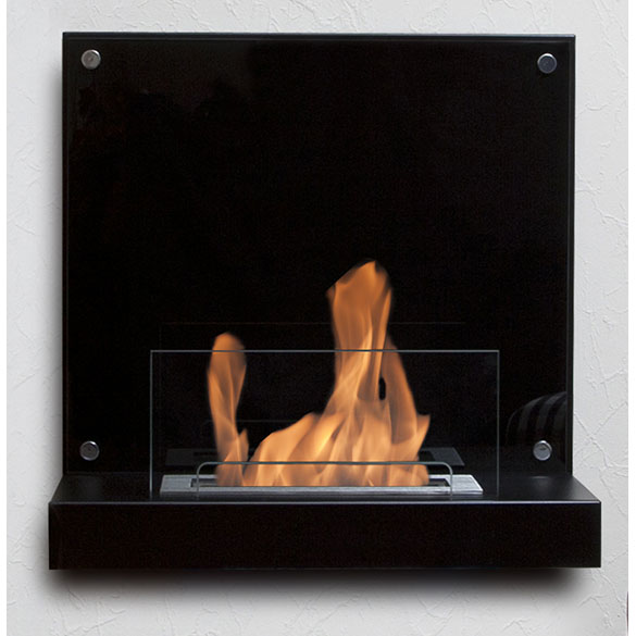 Bio-Blaze Velona Black Steel Ventless Ethanol Fireplace