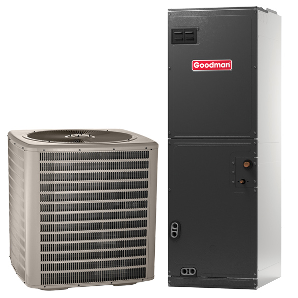 3 Ton Goodman Manufacturing Company 14 SEER Central Air Conditioner System - Heat and Cool