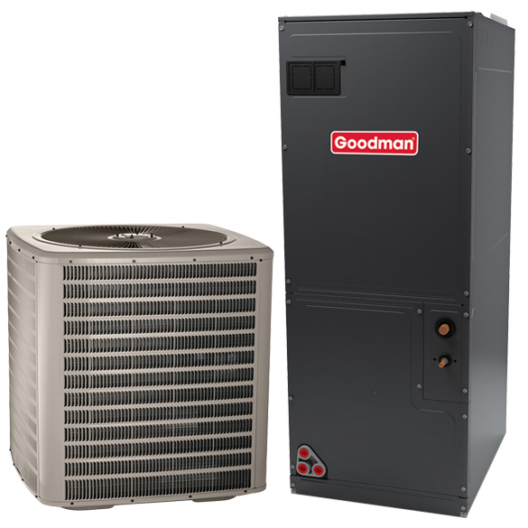 5 Ton Goodman Manufacturing Company 14 SEER Central Air Conditioner System HCGMC2485